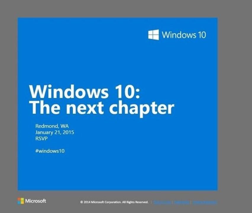 マイクロソフトがWindows 10イベントを来年1月21日開催。一般向け機能を紹介?