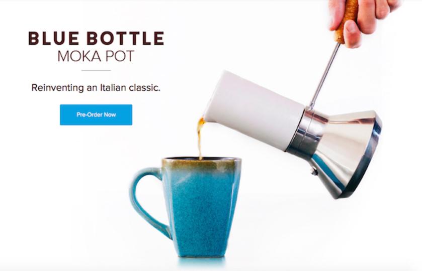 Blue Bottle Coffeeによって新しく生まれ変わったクラシックなモカポット