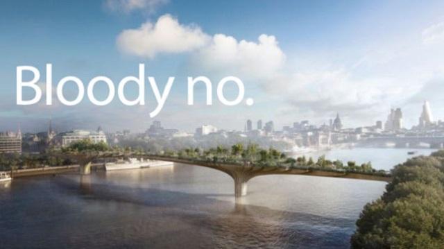 テムズ川に架かる庭園、建設許可が下りる