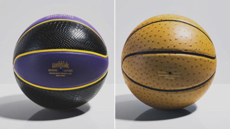 ドリブルするのをためらう高級レザーバスケットボール
