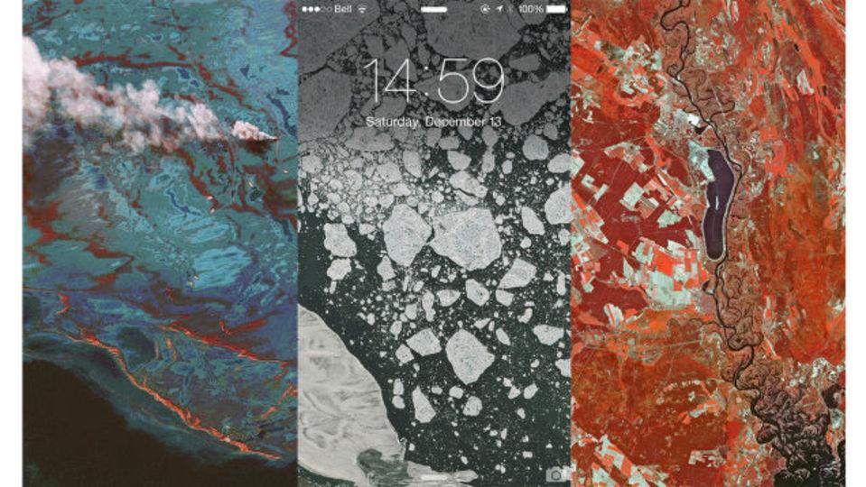 そのままスマホの壁紙に! 選りすぐりの美しい衛星写真を集めた「Aerial Wallpapers」