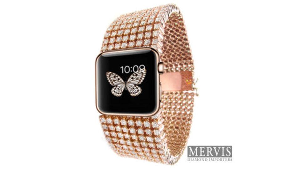 15カラットのダイヤを散りばめた300万円超の「Apple Watch」