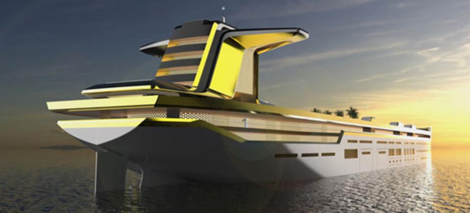 タンカー級巨大ヨットのコンセプト画像
