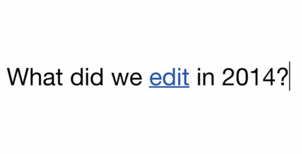 ウィキペディア2014年の総編集数は1億超え