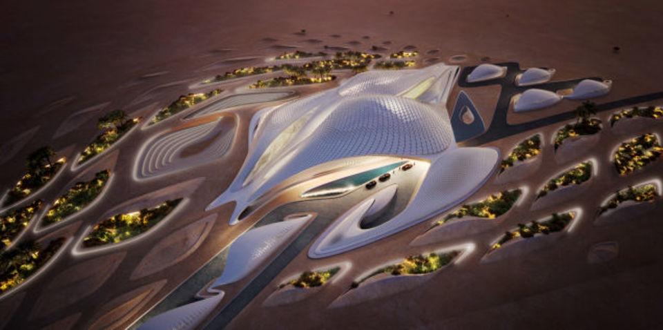 ザハ設計の宇宙船のような建物がUAEに現る