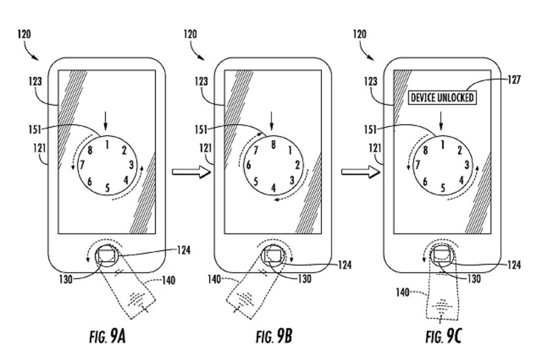 Touch IDを指でなぞってロック解除できるアップルの新特許