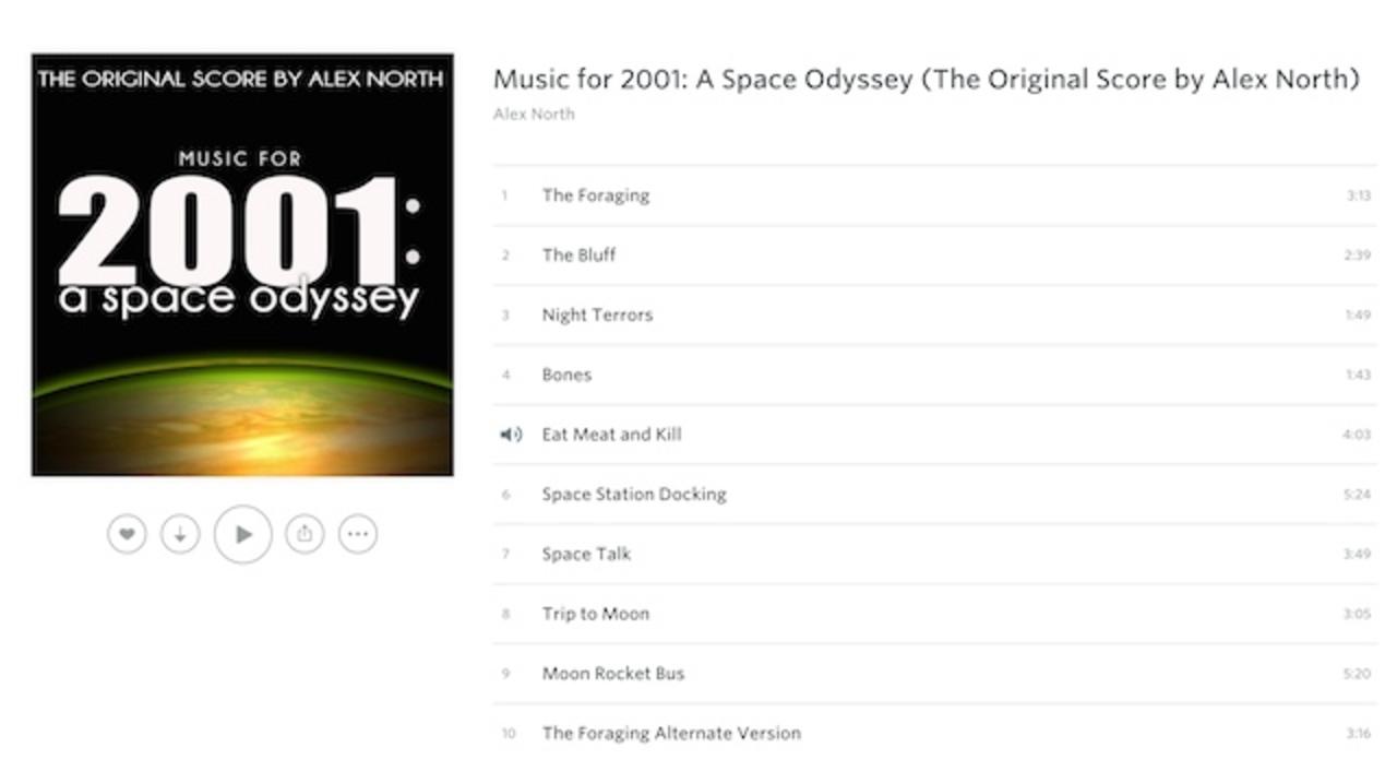 映画「2001年宇宙の旅」で使われなかった幻のサウンドトラック
