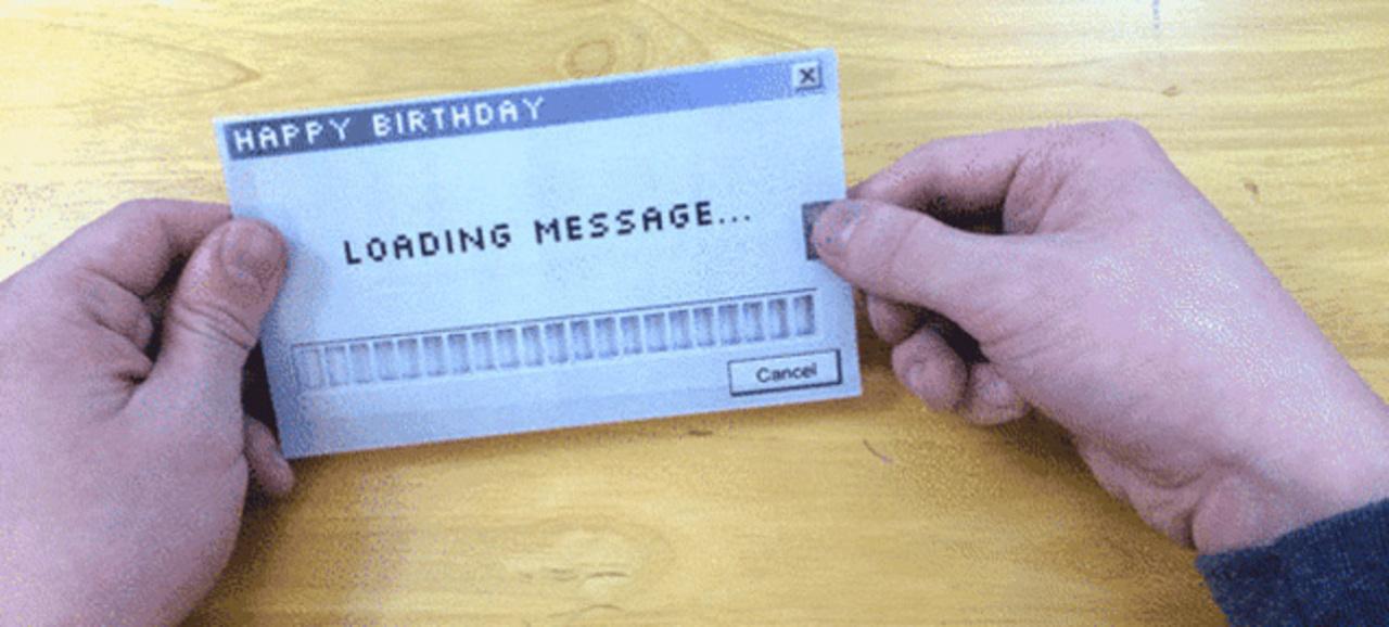 ローディング・メッセージ付グリーティング・カードの作り方