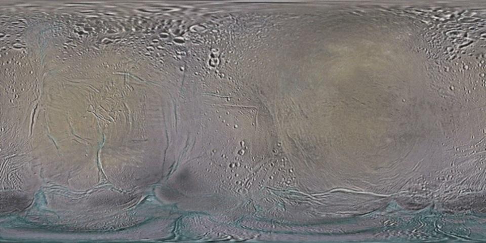 カッシーニによって撮影された土星の月の地図をNASAが新たに公開