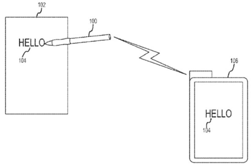 空中でも書ける、アップルがスマート・スタイラスの新特許を取得