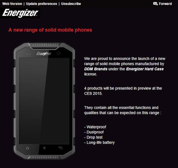 電池メーカーEnergizer、タフ仕様スマホを発売?