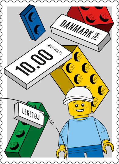 2015年早々にレゴの記念切手が発売