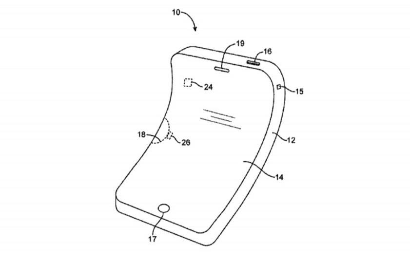 アップルが「曲がるiPhone」の特許を取得