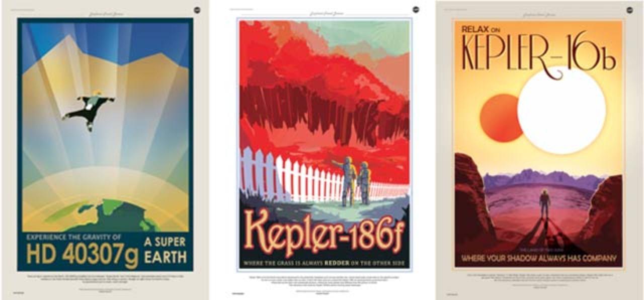 NASA制作のポスターが素晴らしい、テーマは太陽系外惑星トラベル