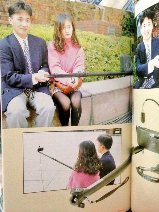 日本にセルカ棒は1995年からあった!証拠写真がRT1万超え
