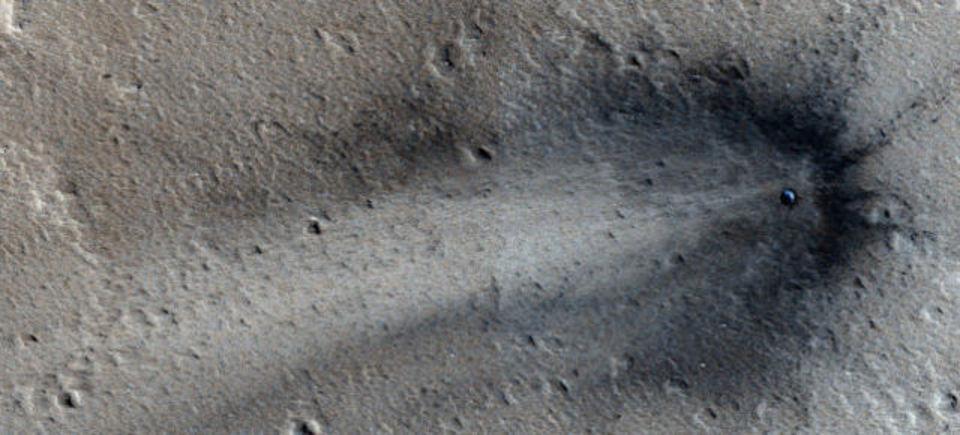 火星に何かが衝突!