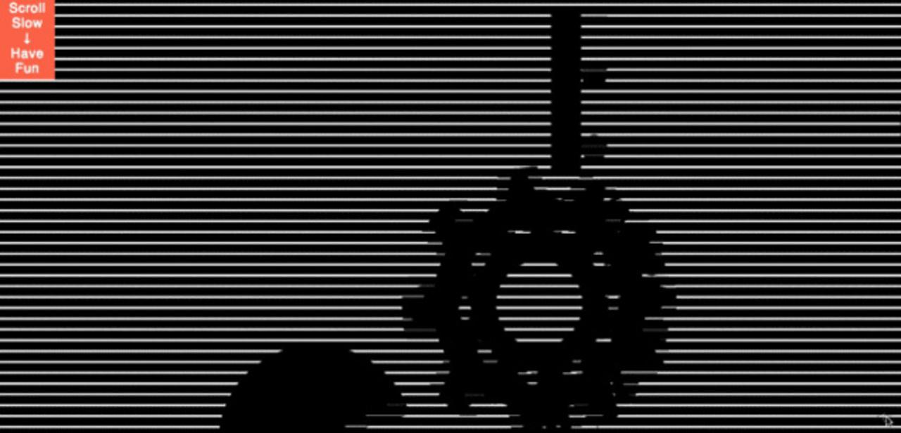 黒スリットの「動く絵」が楽しめるウェブサイト