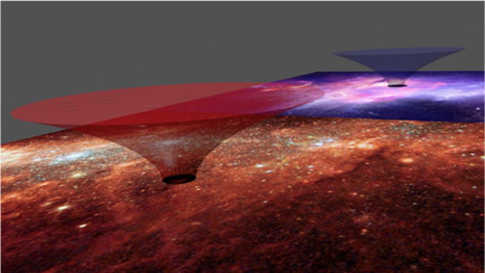 天の川は巨大なワームホール? 鍵はダークマター