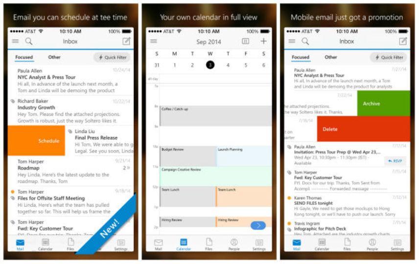 マイクロソフト、Acompliベースの新Outlookアプリを公開