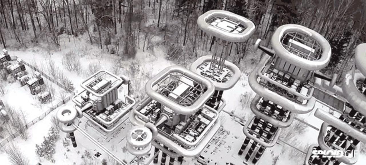 ソビエト時代の極秘テスラタワーをドローンで撮影