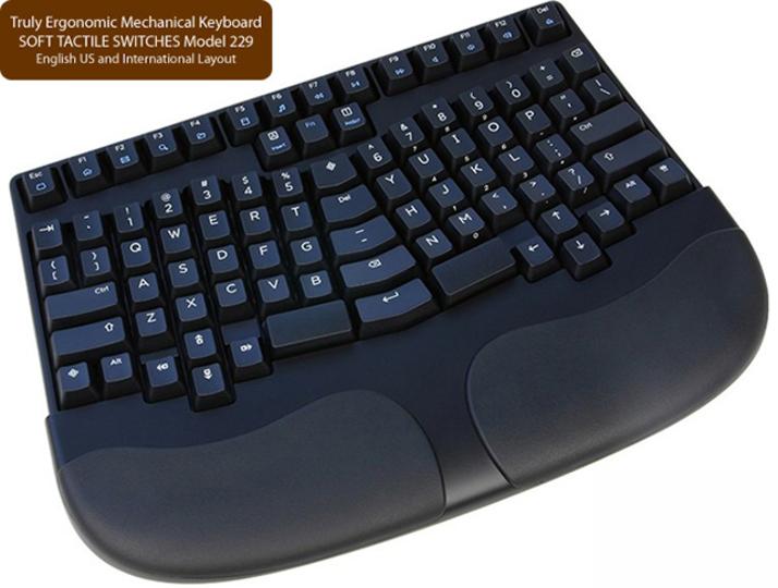 Cherry互換キースイッチ採用左右対象エルゴノミクスキーボード