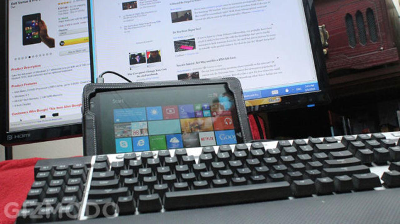 デスクトップPCの代わりに、Windowsタブレットを使ってみた