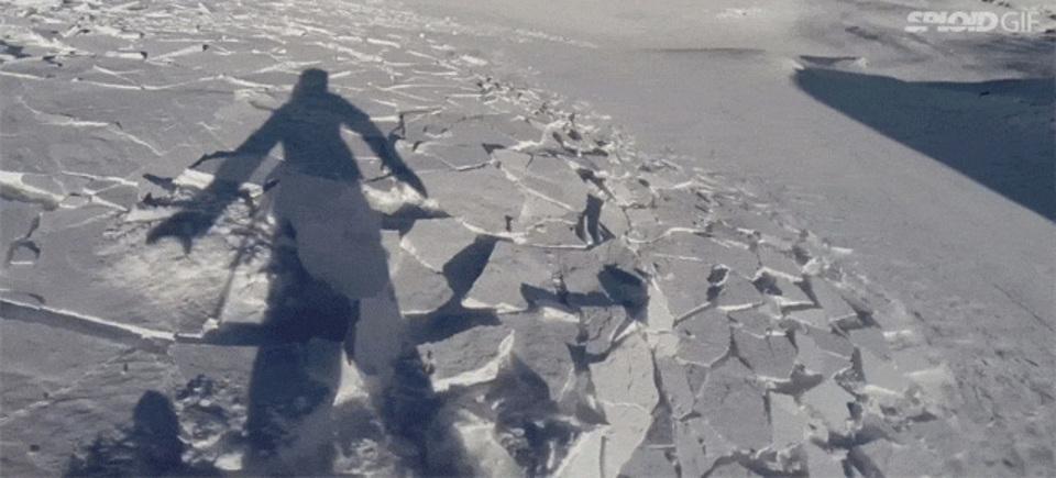 GoProが捉えた「目の前で雪崩が起きる恐怖」