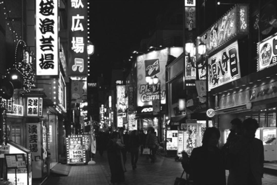 東京の街から文字を消すとこんな感じ