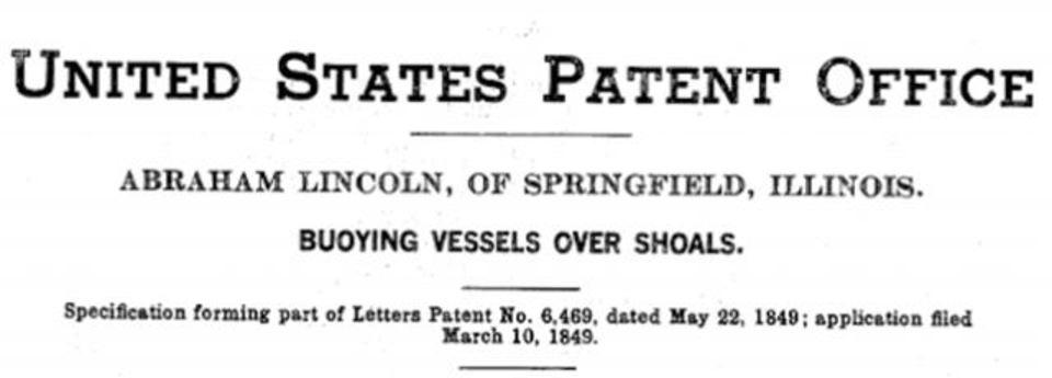 リンカーンは(珍)特許もってる唯一の米大統領