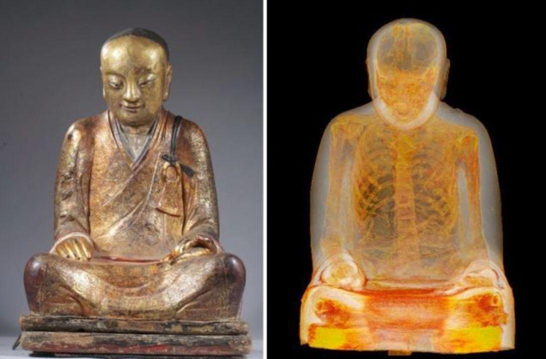 仏像をCTスキャンしたら中にミイラ。この僧は誰? なぜここに?