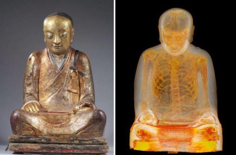 仏像をCTスキャンしたら中にミイラ。この僧は誰? なぜここに ...