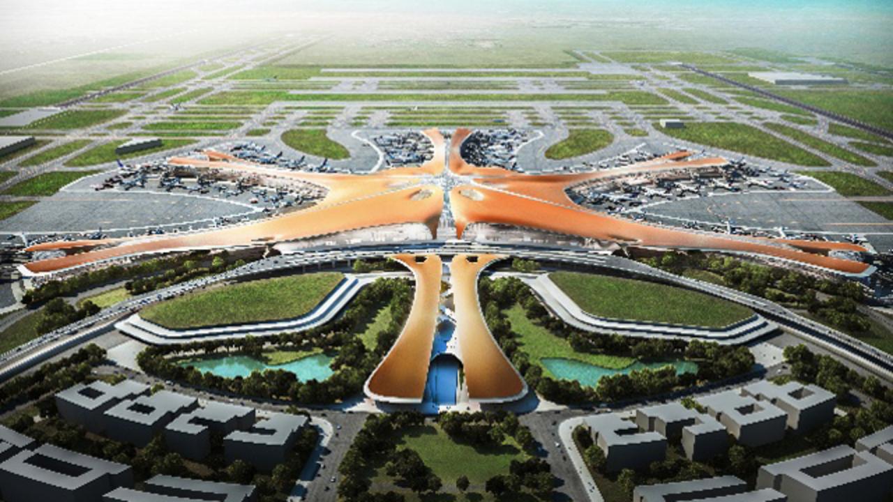 これが世界最大の空港デザイン…北京に2018年オープンへ