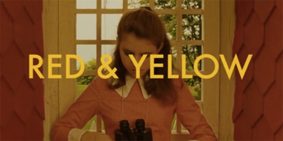 黄色と赤を基調として見るウェス・アンダーソン作品