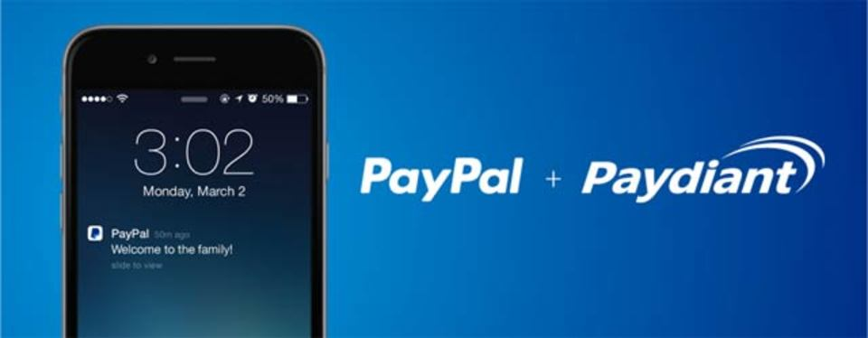 PayPalがモバイル決済サービスPaydiantを買収