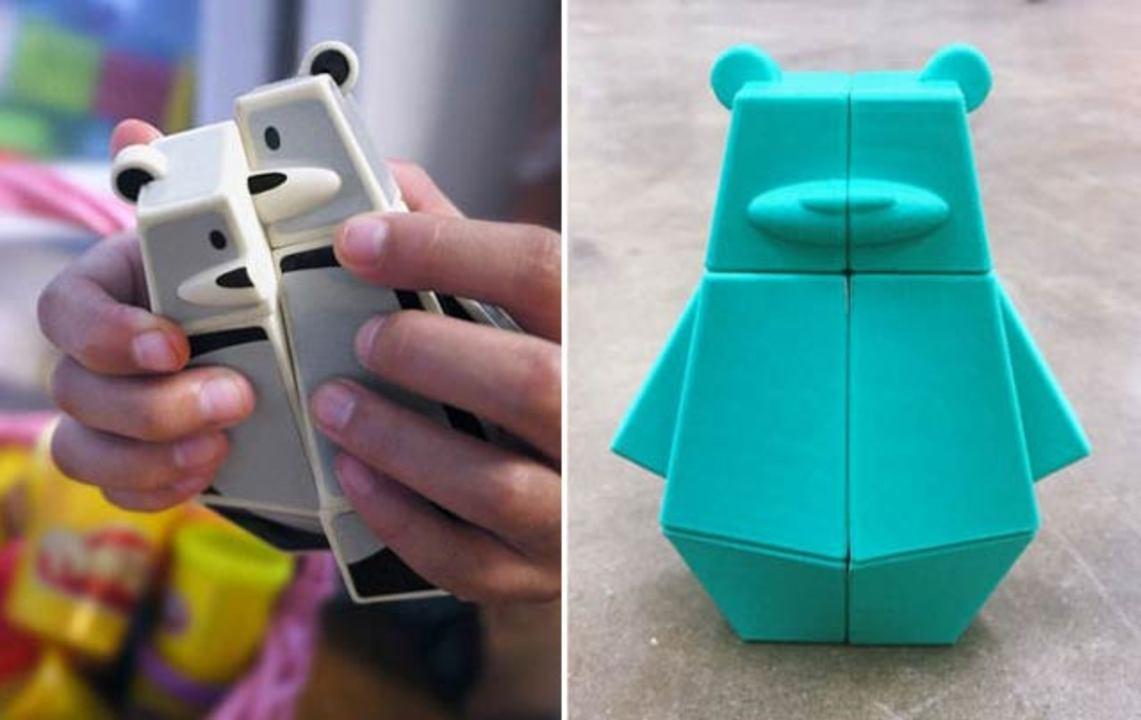 クマさん型のルービックキューブ、3DプリンターでDIY制作可能!