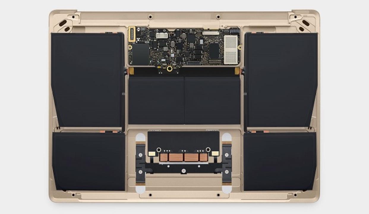 新MacBookは恐ろしいレベルでバッテリーが積まれてる #AppleLive