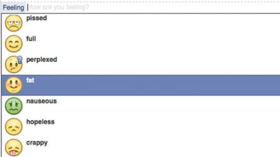 フェイスブックの気持ちアイコンから「お腹いっぱい」が削除