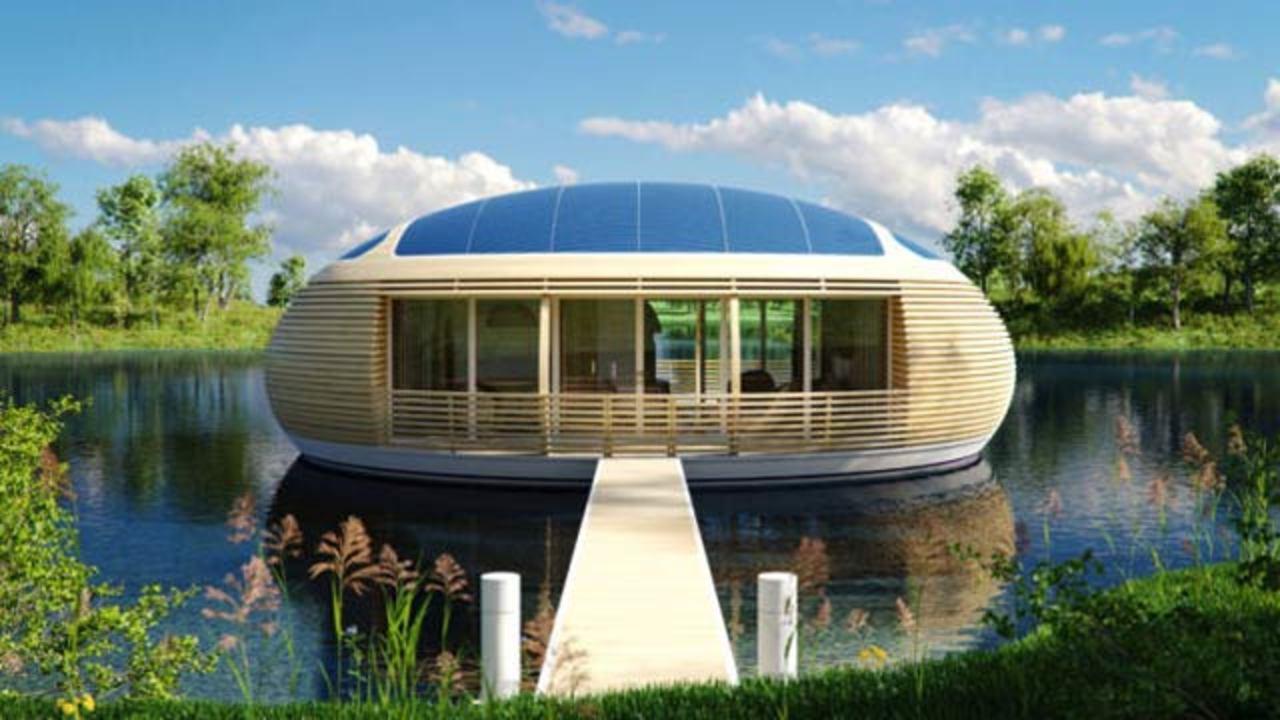 98%再生利用可能、水に浮かぶ次世代エコハウス