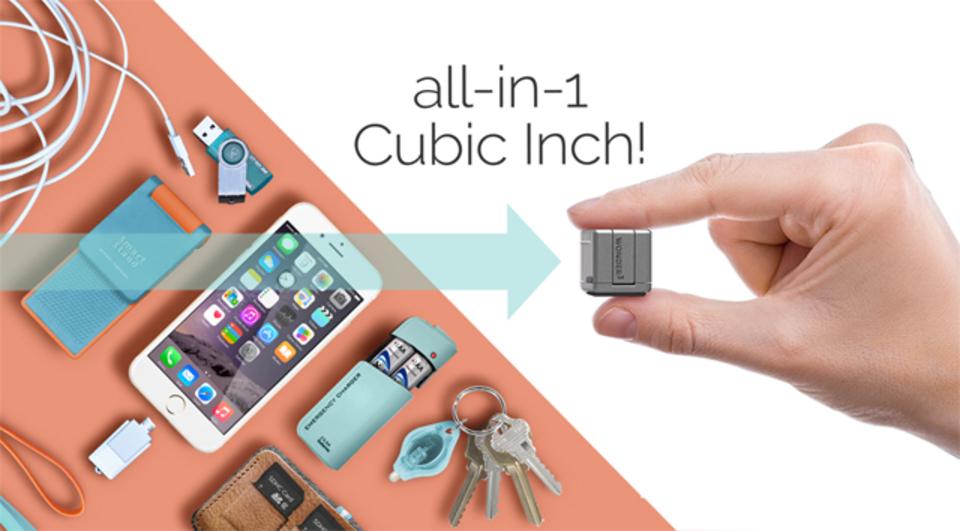 これさえあれば安心! 2.5cmキューブに8つの機能を備えたマルチツール