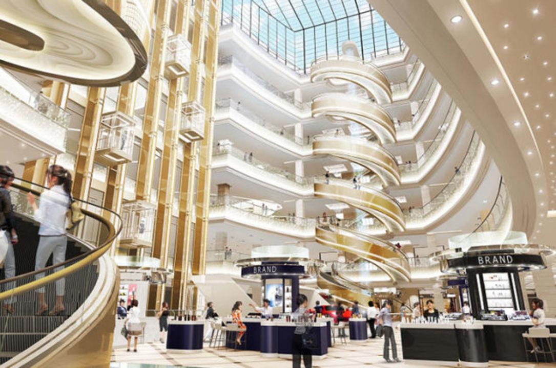 上海の百貨店に世界最大の「らせん」エスカレーター登場