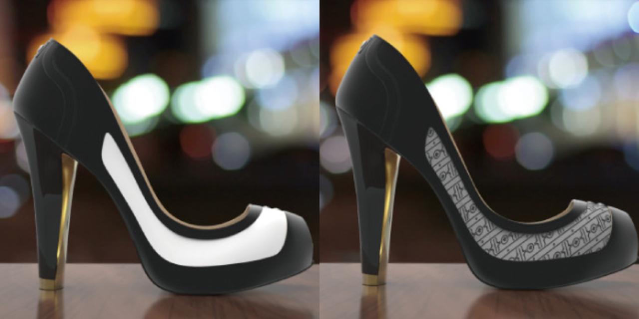 1足に無限のデザイン。E-Inkで色柄を変えられる靴