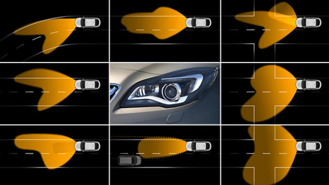 運転手の目を追うヘッドライトをGMが開発中