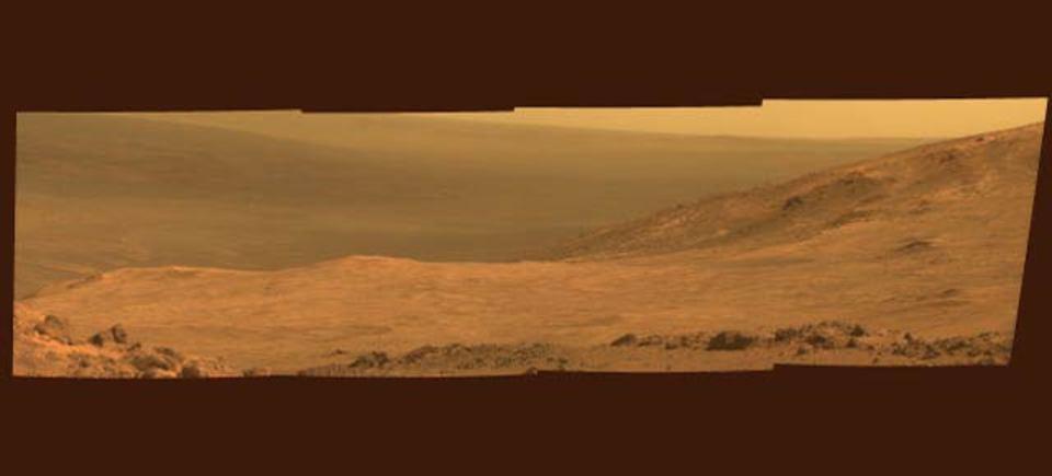 オポチュニティが火星マラソンで見た風景