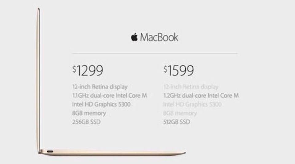 新MacBook、気になるお値段は1,299ドル(15万円台)から! #AppleLive