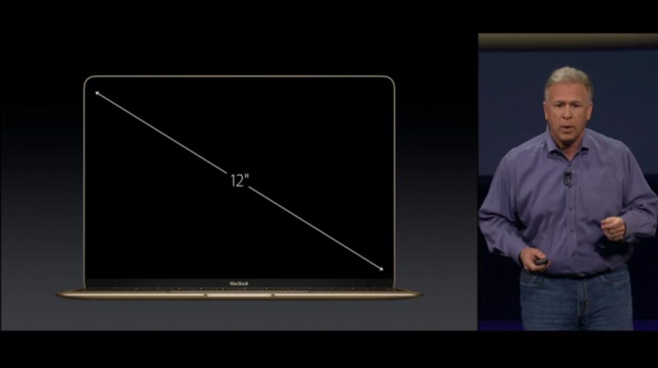 新MacBookのスクリーンは12インチのRetinaディスプレイ #AppleLive