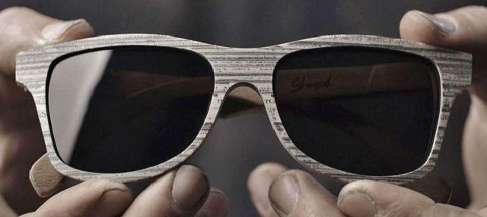 おぉ。あんな素材でもこんなにイカしたサングラスが作れる