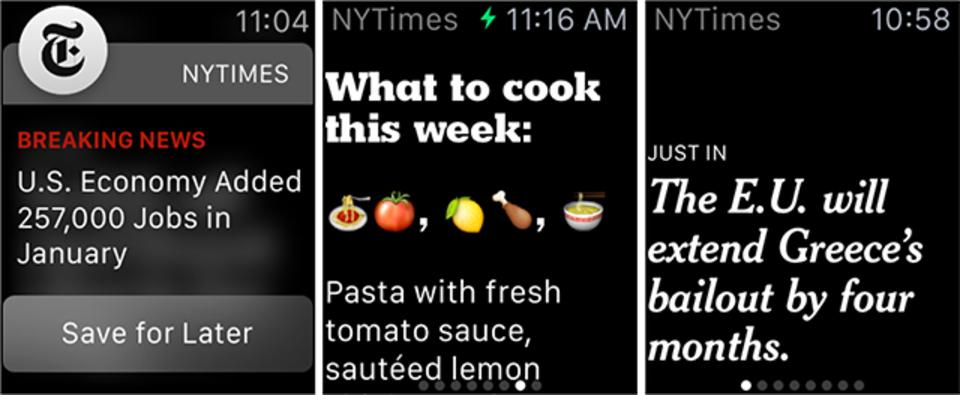 NYタイムズがApple Watch向けの1行ニュースアプリをリリース