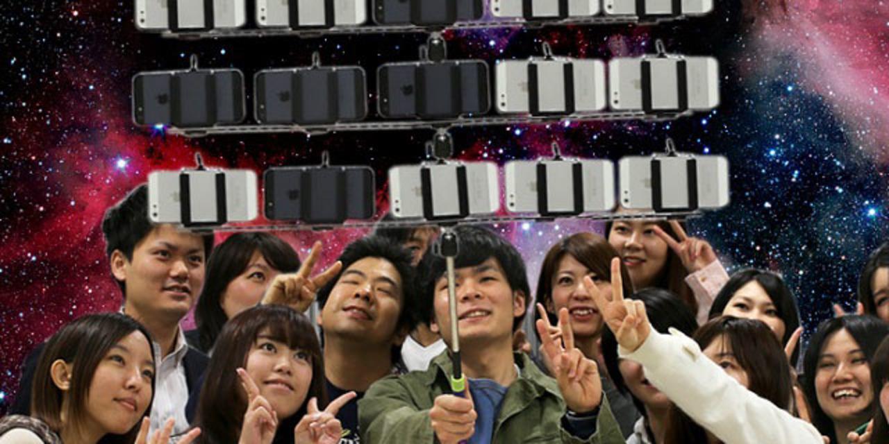 なんじゃこりゃ…集合写真専用セルカ棒が発売!?