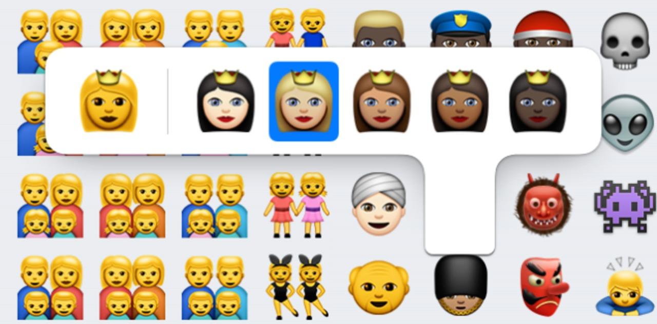 iOS 8.3の新絵文字、肌色が選べてどう変わった?
