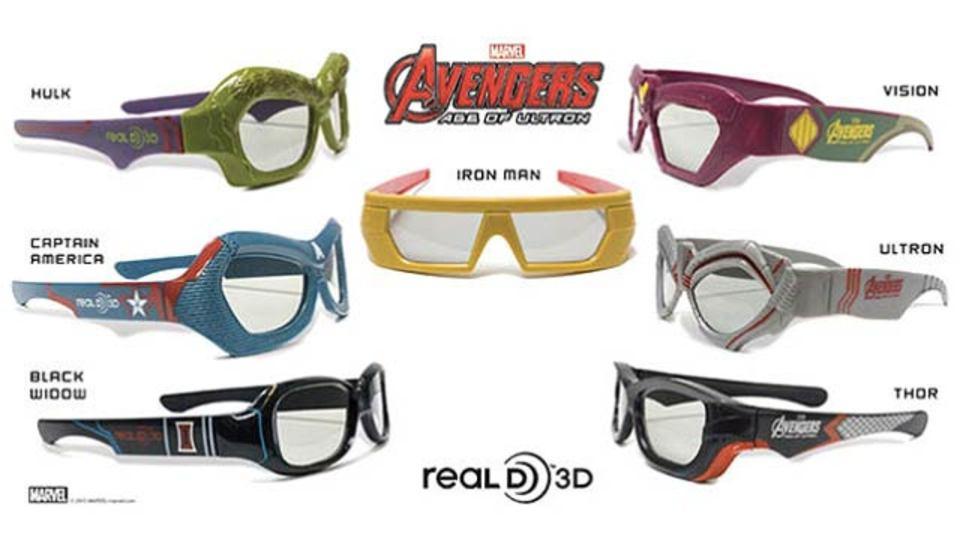 ヒーロー系3D映画見るなら必須、アベンジャーズ風の3Dメガネ